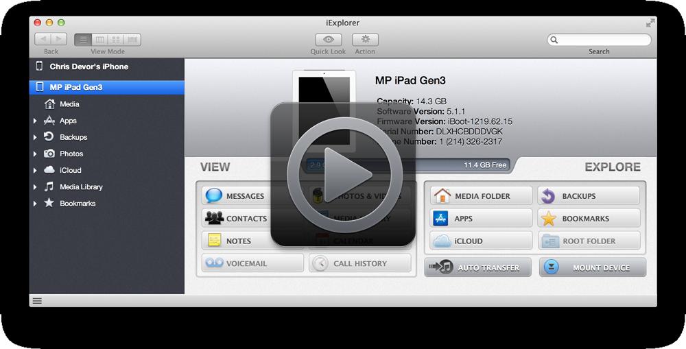 管理工具_iExplorer v4.0.7.0 官方Mac版界面图1