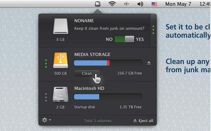 硬盘清理_CleanMyDrive mac v2.1.3 官方版界面图1