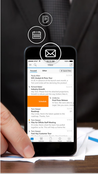 Outlook V2.4.4 iOS版界面图1