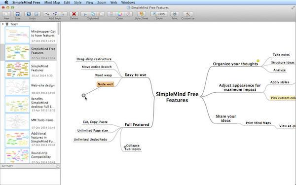SimpleMind Free V1.15.2  Mac版界面图1
