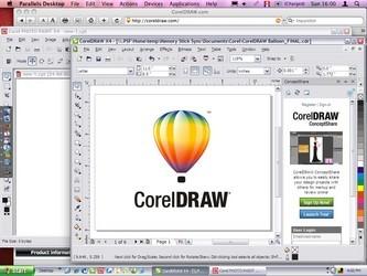 coreldraw9绿色版界面预览图