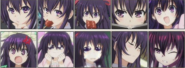 夜刀神十香表情包图片