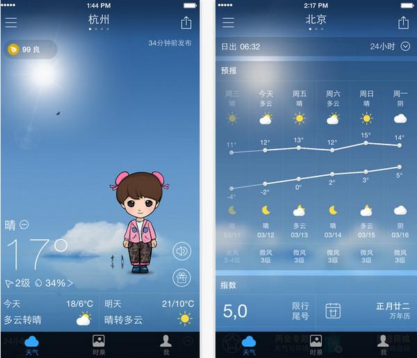墨迹天气app V6.0.8 iPhone版界面图2