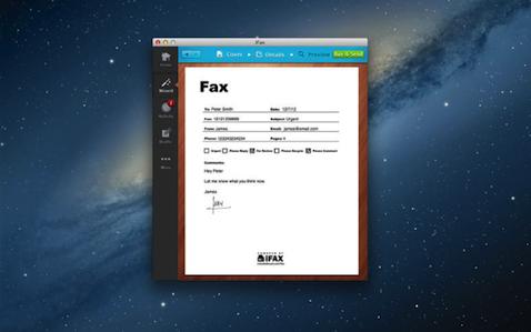 iFax V2.19 Mac版界面图2