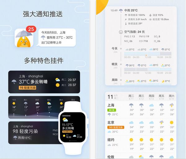 我的天气app v1.1.2 iphone/iPad版界面图1