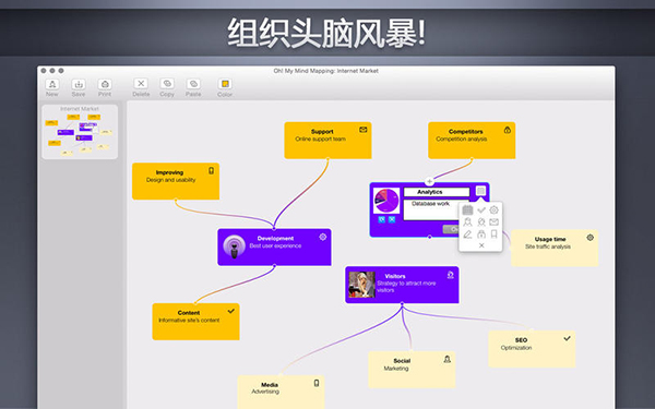 My Mind Mapping  V3.5.3  Mac版界面图2