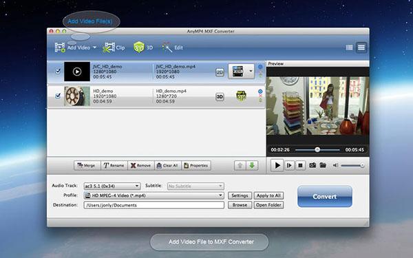 MXF Converter  V6.6.21 Mac版界面图3