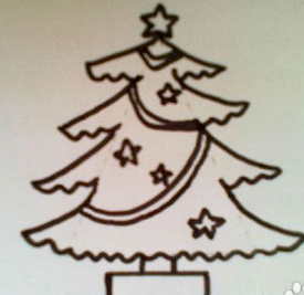 圣诞树怎么画 圣诞树简笔画
