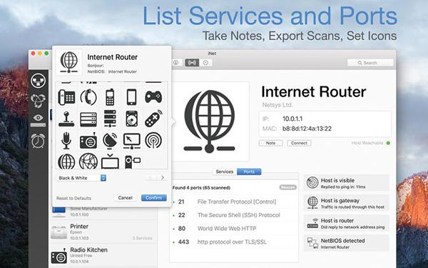 iNet Network Scanner Mac版 V2.3.3  免费版界面图1