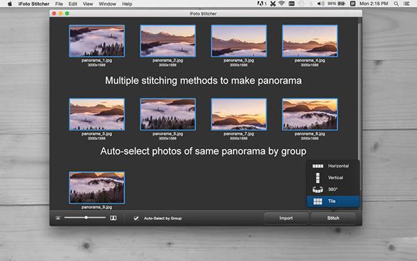 iFoto Stitcher  V2.14.1027  Mac版界面图2
