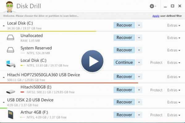 disk drill 破解版界面图1