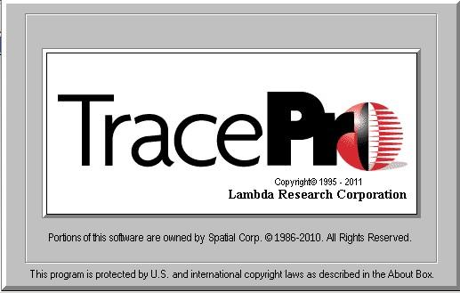 tracepro界面图1