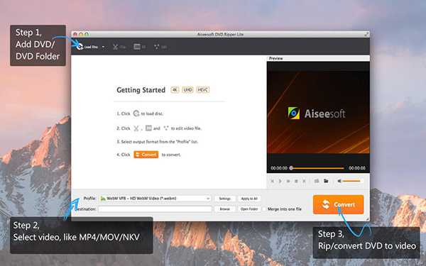 Aiseesoft DVD Ripper V6.5.27  Mac版界面图1