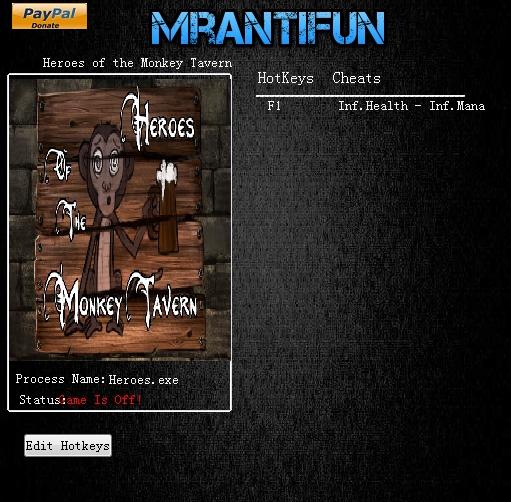 小猴酒馆的英雄修改器界面图1