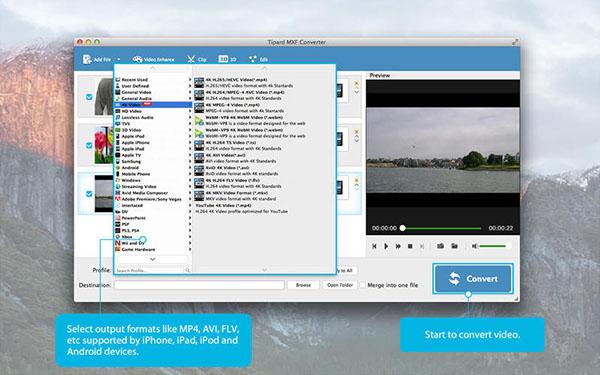 Tipard MXF Converter  V3.7.81 Mac版界面图2