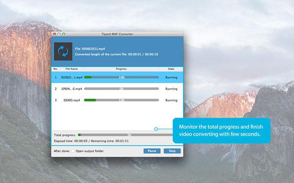 Tipard MXF Converter  V3.7.81 Mac版界面图3