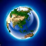 亚洲地形图高清放大版下载 绿色版